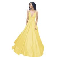 2019 elegante de veludo amarelo longo da sereia menina Prom Dresses para Black Halter Lace apliques vestidos de noite Backless varredura Trem Vestidos P020