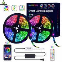 Bluetooth-LED-Streifen-Lichter RGB-Licht-Kit 16.4ft 32.8ft 150LED SMD5050 Wasserdichte Music Sync-Farbwechselcontroller