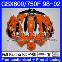 Body Orangre Black Hot voor Suzuki Katana GSXF 600 750 GSXF750 98 99 00 01 02 292HM.3 GSX 750F 600F GSXF600 1998 1999 2000 2001 2002 Kuip