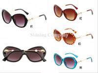 المرأة القط نظارات العين المعدنية البلاستيكية الماس ظلال UV400 المرأة شاطئ الصيف ركوب الدراجات القيادة نظارات شمسية 5 اللون