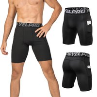 Shorts 4 Packs Men Compression Shorts Roupa Interior treino mais activo com o Pocket