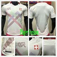 플레이어 버전 2020 2021 스위스 축구 유니폼 Seferovic Shaqiri embolo behrami freuler 사용자 정의 20 21 Suisse White Football Shirt
