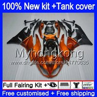 Cuerpo + tanque para Kawasaki ZX6R ZX636 2009 2010 2011 2012 206MY.12 ZX 6R 636 600CC ZX636 ZX600 ZX 6R ZX6R 09 10 11 12 Brillo naranja carenados