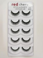 Red Cherry False Eyelashes 5 pairs pack 8 Styles 3D Mink Eye...