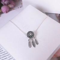 عالية الجودة الاسترليني S925 الفضة إمرأة مصمم الأزياء قلادة بيغيني مجوهرات باندورا لSTYLE قلادة