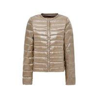 2019 Новый Ультра-Светлый Женщины Дауд Куртка Зимний Круглая Шере Проточные Куртки Утка