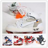7e34e0395e49aa Crianças sapatos Conjuntamente Assinado Alta OG 1s Crianças tênis de  basquete Chicago 1 Infantil Menino Menina