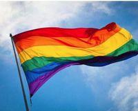 3x5ft 90x150cm Drapeaux et bannières arc-Lesbienne Gay Pride Drapeau LGBT Polyester Drapeau coloré pour Décoration WY78