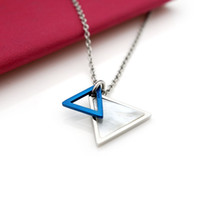 Necklace ARPSS189- steel New 316L triangle shape pendant whit...