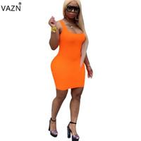 Вазн лето 2019 новые женщины повседневная мода без рукавов круглые шеи жилет типа контрактные комфортные мини короткие YM-8399