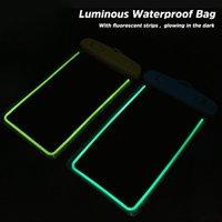 Waterproof Bag Phone Capa Para iphonePhone X 8 Underwater Luminous malote do telefone Capa para Samsung S9 Limpar PVC selada Swim caso
