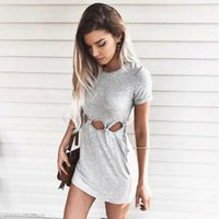Hirigin Womens Hollow Out Bodycon Short Sleeve Holiday Dress Ladies Summer Hole Party Mini Dress Casual Women Clothes