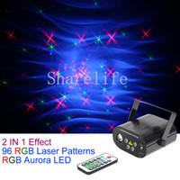Sharlife البسيطة 4 عدسة 96 RGRB نمط ضوء الليزر مزيج RGB LED أورورا التحكم عن بعد سرعة المحرك DJ الحفلة حزب المرحلة إضاءة المنزل