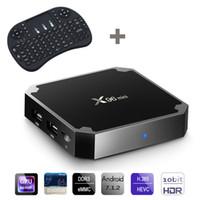 X96 مصغرة مع i8 لوحة المفاتيح مصغرة Amlogic S905W رباعية النواة الروبوت 7.1 صندوق التلفزيون 1 جيجابايت + 8 جيجابايت 2 جيجابايت + 16 جيجابايت wifi 4K