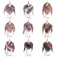 Plaid Scarves Girls Check Tassel Wrap Grid Lattice Shawl Ove...