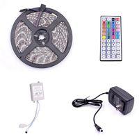 LED 스트립 플라스틱 300-LED SMD3528 24W RGB IR44 라이트 스트립 IR 리모콘 (흰색 램프 플레이트) (미국 재고)
