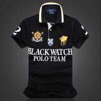 Высокое качество 100% хлопок дешевый черный дизайн футболки поло для мужчин с дизайном вышивки