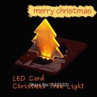 Mini carte de crédit se pliante de carte d'arbre de Noël de LED Carte de crédit légère de LED pour Holida 85 x 55 x 6 millimètres