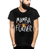 تصميم فريد من نوعه مامبا أبد T قميص بارد تي شيرت أزياء الرجال O-الرقبة الصلبة لون القطن قصير الأكمام المحملة القمم لعشاق هدية Camiseta S-6XL