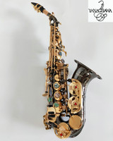 Yeni Japonya Yanagisawa S-991 Yüksek Kaliteli Kavisli Soprano Sax Siyah Altın Anahtar BB Müzik Enstrüman Soprano Saksafon Profesyonel