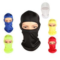 Neuer Großhandel 8 Farben Outdoor-Maske Winddicht Full Face Neck Baumwolle Kopfbedeckungen Hut Frühling Herbst Winter Reiten Wandern Radfahren Cap