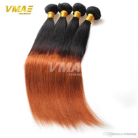 Ombre Hair Extensions Two Tone Capelli lisci Virgin capelli lisci Weaving Two Tone 1B 30 Ombre Hairpiece Weave Bundles opp