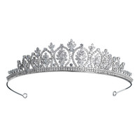 2019 Новейший Luxury Диадема Полного CZ Коронки Свадебной Кубический циркон цветок Женщина заставки венчание невеста для партии JCI088