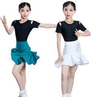 Etat de la scène 2021 Enfants latins Costume de danse Costume de bal salles Chama Salsa Rumba Robe de danse pour fille Kids Vestido