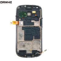Ücretsiz Tamir Araçları ile Sayısallaştırıcı Frame ile Samsung Galaxy S3 Mini i8190 LCD Dokunmatik Ekran ORIWHIZ Yeni LCD Ekran