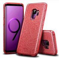 Samsung Galaxy S6 S7 가장자리 용 S9 S8 S10 Plus Lite 플러스 A6 A8 A9 J4 플러스 J7 2018 참고 8 9 커버 용 충격 방지 소프트 글리터 케이스