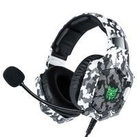 PS4 fone de ouvido casque com fio gamer fones de ouvido de jogo estéreo com microfone led luzes fone de ouvido para xbox s laptop tablet switch PS4 pro
