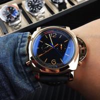 Runde Vorwahlknopf 41mm der Luxuxmänner Uhrkristalluhr-Saphirspiegel Gummi strapl Armband geben Verschiffen frei