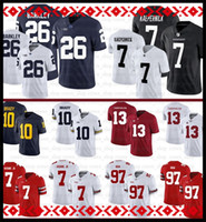 13 Tua Tagovailoa NCAA 7 Dwayne Haskins Jr Alabama Crimson Tide Jersey Nick Bosa Michigan Tom Brady Ohio State Buckeyes Football Jerseys42