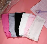 Bambini Modal Cotton Shorts Fashion Pizzo Leggings corti Ragazze Pantaloni di sicurezza Bambini collant Short Tights Girls Pantaloni di sicurezza Pantaloni Anti-light M326