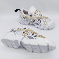 2020 The latest Flashtrek sneakers with detachable crystal men's luxury shoes casual fashion luxury ladies shoes sneaker size 35-45