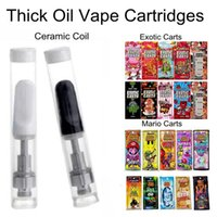 Hot Glass Tank Thick Oil Vape Cartridges With Mario Exotic C...