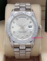 2020 41mm Diamant eingelegten Außenring Uhr mittlere Reihe Diamant mit automatischen mechanischen Uhr Edelstahl der modernen Männer Uhr