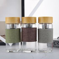 Glass Water Bottles Heat Resistant Round Office Car Cup With...