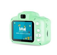 Navidad para niños Niños Mini cámara digital Cámara de dibujos animados lindo 8MP SLR TOYS Regalo de cumpleaños 2 pulgadas Pantalla 3 colores