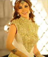 Oriente Medio vestidos de noche Nancy Ajram 2020 Top Nuevo cuello alto bordado con cuentas sobre cordón de la gasa del cabo de la celebridad Vestidos de fiesta 74