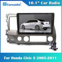 10.1inch Android 9.0 Voiture Radio Multimedia Video Player pour Honda Civic8 Andorid 2 DIN 2005-2011 Navigation GPS Pas de voiture DVD