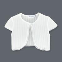 Nouvelle mode Bolero Bolero Enfants manches courtes en coton Summer Girls Cardigan Veste