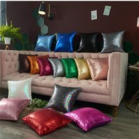 16 Colors fashion Sequins Pillow Case Glitter Pillow Covers ...