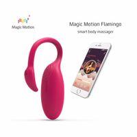 Magic Motion intelligente APP Bluetooth Vibrator Sex Toy Femme Télécommande Flamingo Clitoris Point G Stimulateur Vagin Massager