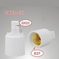 GX23 Male to E27 E26 Female GX23-E27 Converter Lamp Adapter GX23 to E27 Adapter CE ROHS