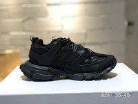 Lanzamiento 3.0 Tess S Paris Track Gomma Maille Black para hombre Triple S Clunky Sneaker Casual Shoes Hot Authentic Designer Shoe
