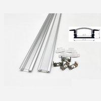 Profilo di alluminio di 1m led per la luce della barra del led, canale di alluminio della striscia del led, copertura trasparente lattea impermeabile dell'alloggiamento di alluminio