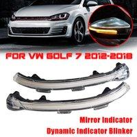 Volkswagen VW 골프 MK7 7 GTI r GTD 2013 2015 2016 2016 흐르는 물 깜박이 빛을 깜박이는 빛을위한 LED 동적 턴 신호 빛