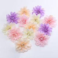 15 CM 100 pcs 5 Cores Dálias De Seda Artificial Cabeças de Flor Para DIY Decoração Da Parede Do Casamento Arco Decoração de casa Festa