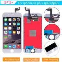 iPhone 6S İçin Yüksek Parlaklık Kalite A + LCD Ekran 7 8 PLUS 3D Dokunmatik Ekran Sayısallaştırıcı Meclisi Değiştirme Hayır Ölü Piksel